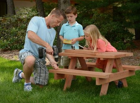 ProWood Project Plans - Children's Sized Picnic Table