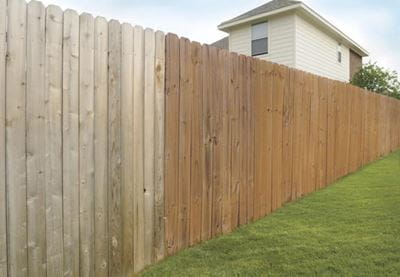 Fence board comparison between cedar & Microshades