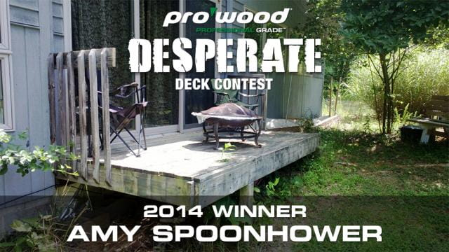 ProWood Desperate Deck 2014 Winner