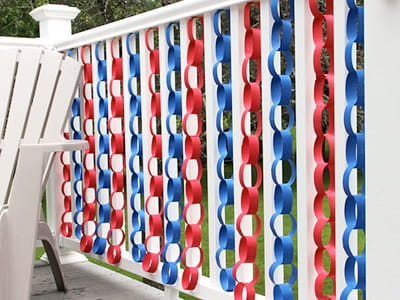 4th of July deck decorations