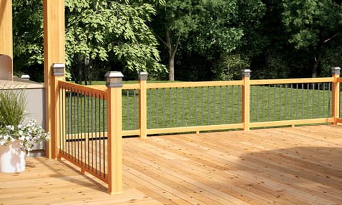 ProWood Pre-assembled Handrail with aluminum powder-coated balusters