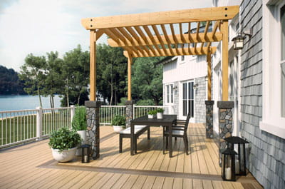 Pergola for a backyard shade solution