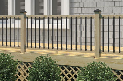 Aluminum balusters for a quick and easy weekend project.