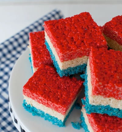4th of July Treats, red, white and blue