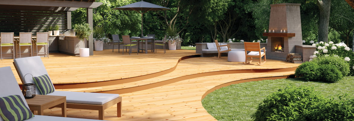 ProWood curved deck for deck entertaining