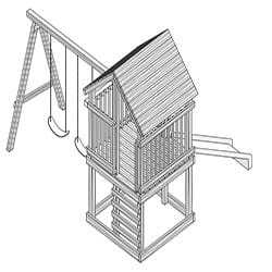 Outdoor Wood Playset Project Plan