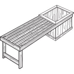 bench seat planter project plan