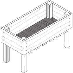 elevated garden box project plan