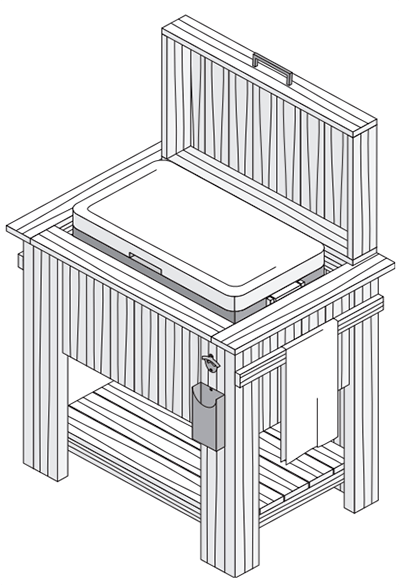 ProWood Standing Wood Cooler Project Plan Drawing