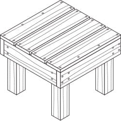 deck and patio end table project plan