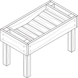 extra-deep elevated garden box project plan