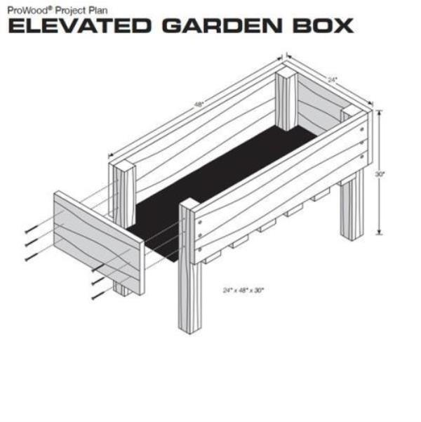raised planter box project plan