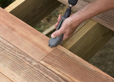 The best hidden fastener for treated wood decking for Brown treated deck boards
