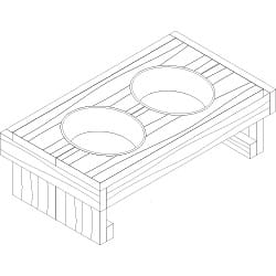 double dog bowl stand project plan