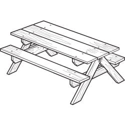 children's picnic table project plan