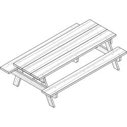 full size picnic table project plan