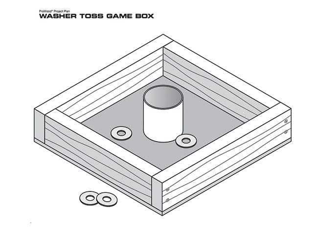 ProWood washer toss game project plan